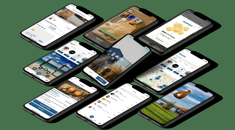 LITT app preview on screens